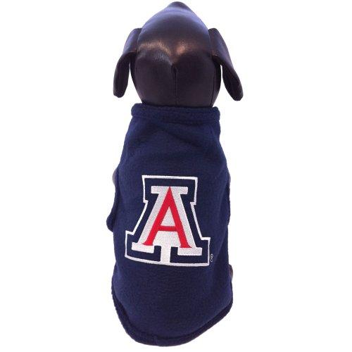 All Star Dogs NCAA Arizona Wildcats Ärmelloses Polar Fleece Hunde-Sweatshirt, Herren, Navy, Large Navy Hooded Fleece-sweatshirt