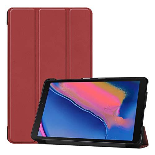 Case Schutzhülle für Samsung Galaxy Tab A 8.0 2019 P205 / P200, Leder, Standfunktion, Mehrfarbig, Unisex, Wein ()