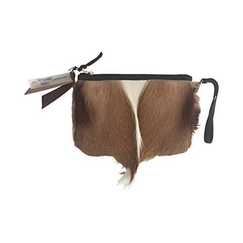 Fimbi Handtasche aus Springbokfell, handgefertigt in Namibia - 25cm x 17cm