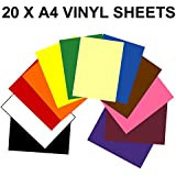 A4 Vinyl Self Adhesive Sheets x 20. Any colours. Crafts, art, robo craft by GREENSTAR GRAPHICS