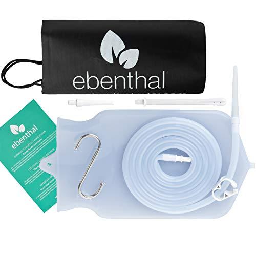 EBENTHAL ™ Premium Darmeinlauf-Beutel zur Darmreinigung 2 l: Komplettes Darm-Spülung-System mit durchsichtigen Beutel zur hygienischen Darmreinigung – für Einläufe mit Wasser, Kaffee und Tee – inklusive Anleitung – BPA-frei