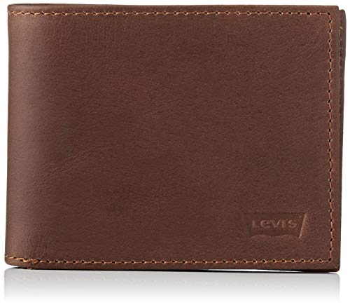 LEVIS FOOTWEAR AND ACCESSORIES Herren Levi\'s Casual Classics Hunte Bifold-B Geldbörse, Braun (Dark Brown), 2x11x8,5 Centimeters