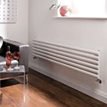 Hudson Reed Revive Radiador Calefactor Mural Diseño Horizontal en Acero Blanco - 354mm x 1600mm -