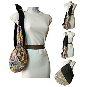 CACHEMIR Damen Tasche, Mehrzweck. Es wächst an Kapazität. Umhängetasche, Strandtasche und Drei-in-One-Einkaufstasche…