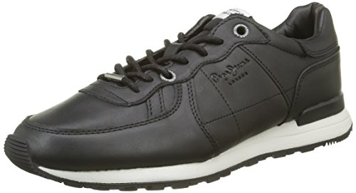 Pepe Jeans Tinker Top, Baskets Basses Homme Noir (999Black)