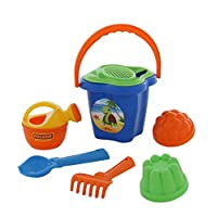 Polesie 4467 235 Sieve Shovel No. 2 Rake No. 2 2 Forms Small Watering Can No. 3-Sets: Flower Bucket, Medium, Multi Colour