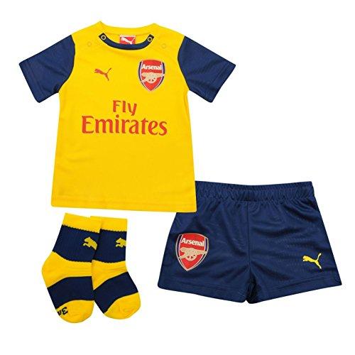 Puma-Maglia dell'Arsenal, stagione 2014/2015, fuori Mini Kit di 3 pezzi per bambini, motivo: pallone da calcio, colore: blu