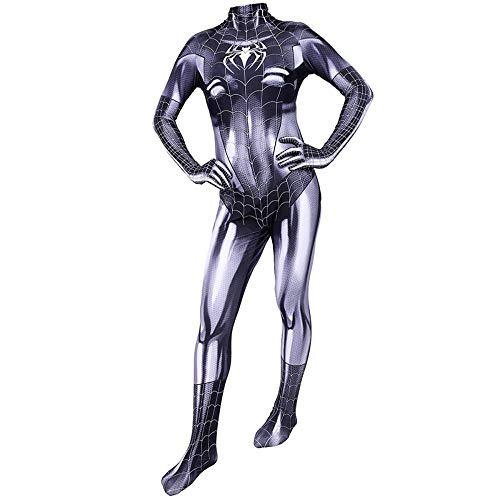 Katze Von Kostüm Schwarze Spiderman - TENGDA Erwachsene Kinder Spider-Man Marvel Spiderman Symbiote Schwarze Katze Cosplay Movie Game Hero Kostüm Weihnachten Halloween Body Spandex Overalls Adult-XXXL,Children-XS