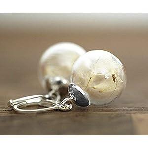 Echte Pusteblume Ohrringe | Exklusive Schmuckschachtel | Tolle Geschenkidee