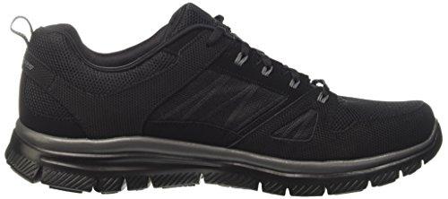 Sneaker Di Vantaggio Flex Maschile Skechers Nero (bbk)
