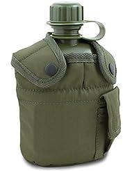 Mil-Tec Gourde militaire US avec housse Vert Vert olive 1 l