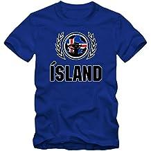 Island EM 2016 #2 T-Shirt   Fußball   Herren Fanshirt  Trikot   Nationalmannschaft   S-5XL