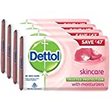 Dettol Skincare Soap, 125g (Pack Of 4)