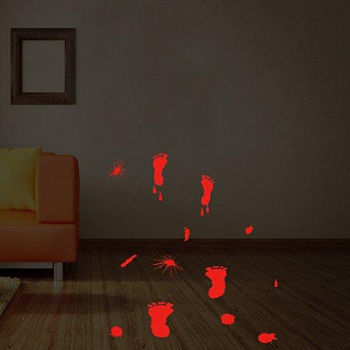Xue Halloween-Wandgemälde, Glas Aufkleber, Hand Druck, Fußdruck, Schlafzimmer Wohnraum, Kunst Dekor, Tapeten, Wanddecal, Aufkleber, Selbstklebendes Papier,B (Hand-drucke Für Halloween)