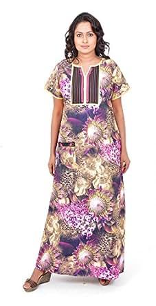 Pommys Womens Cotton Nightwear ,Multi-Coloured ,Xxx-Large