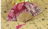 Li-an-ca Decorazione del regalo di nozze del fiore di ciliegia del modello di farfalla del fan (rosso)