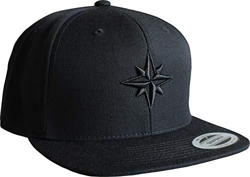 Cap: Nautischer Stern - Flexfit Snapback - Urban Streetwear - Männer Mann Frau-en - Baseball - Hip-Hop Rap - Mütze - Kappe - Anker See - Star - Hamburg - Basecap Vintage (One Size -...