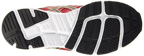 Asics Gel-Zaraca 4 Gs, Chaussures de Running Compétition Mixte Enfant Rouge (Racinig Red/Black/Flash Yellow 2390)