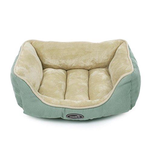 Pecute Hundebett Hundesofa Haustierbett für Katzen und Hunde Rechteck Ultra Weicher Plüsch Haustier-Schlafsack Maschine waschbar (S)