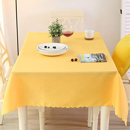 QWEASDZX Einfache und Moderne Tischdecke Polyester Einfarbige Tischdecke Staubdicht wasserdichte Hoteltischdecke Rechteckige Tischdecke Geeignet für Innen und Außen 180x260cm -