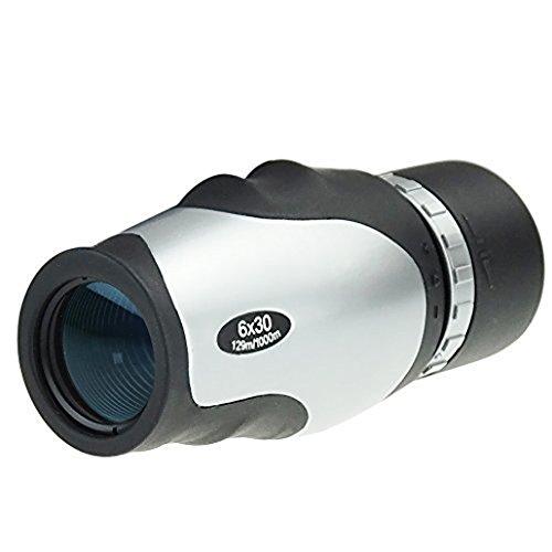 solomark 6x 30Monokular–Porro Prism Monokular Teleskop–Großes Okular, FMC beschichteter Linse–Für Reisen/Spiele/Jagd/Camping/Konzerte/Bird Watching (Wasserdicht, gegen Beschlag geschützt)