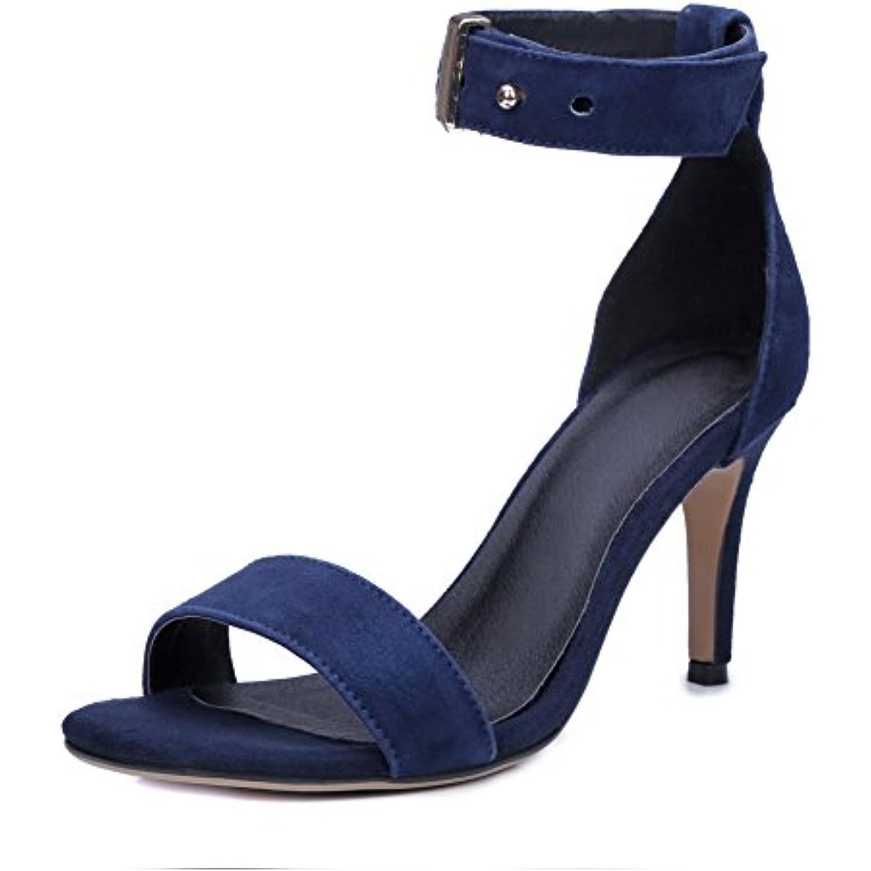 BalaMasa BalaMasa BalaMasa Bout Ouvert Femme - Bleu - Bleu foncé, 36.5 - B07DKHWBH4 - d521c5