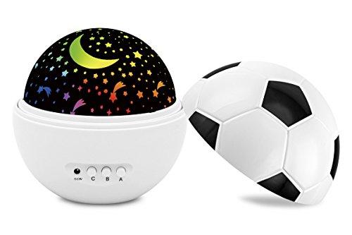 Baby Nachtlicht Star Projektor, Fußball Night Lights für Kinder Colorful Star drehbar Projektor Best Geschenk Idee für Jungen Mädchen
