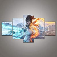 AYogg 5 Cuadro sobre Lienzo Canvas Paintings Wall Artwork Home Decoration Avatar The Last Airbender Korra Aura Poster Modular Picture Prints For Living Room
