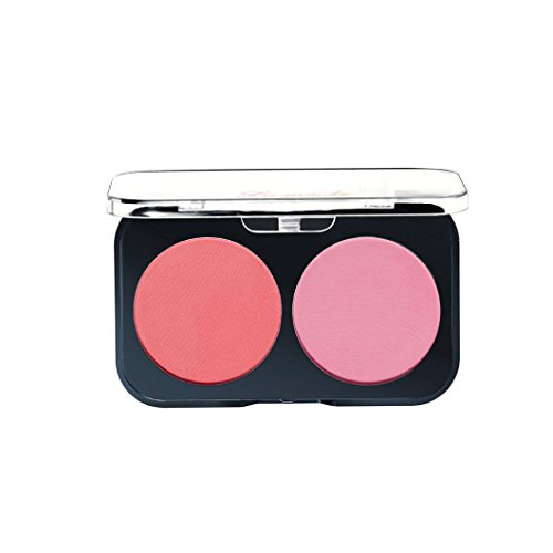 gaddrt Trim Rouge Plate mit leuchtend orange rosa Gesicht Make-up Blush Powder (D)