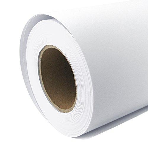 Plotterpapier Rolle matt 128 g/m² 61 cm x 30 m A1 A2 Inkjet Plotter gestrichenes Universalpapier wasserdicht, geeignet für Dye-und Pigmentfarben