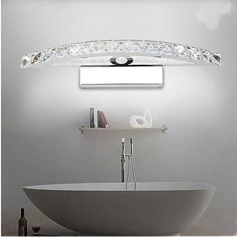 LYNDM Cristallo LED luce specchietto 10W 440MM lampade in acciaio