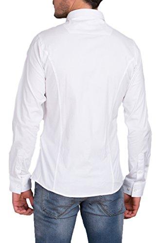 Redbridge Langarm Herren Hemd Basic Business Anzug Freizeit Slim Fit R-2111-A Weiß