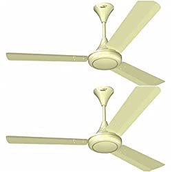V GUARD 1200 MM SWEEP GLADO 400 CEILING FAN PEARL IVORY WITH 3 YEAR WARRANTY (PACK OF 2)