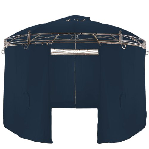 Deuba Metal Gazebo with Side Panels and Air Vent