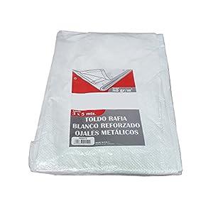 Bcalpe 661549 Toldo rafia plastificado, Blanco, 3 x 5 m