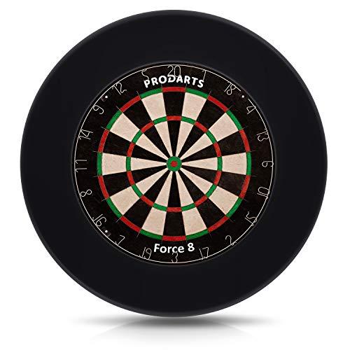 Dart Surround für alle Marken-Dartscheiben – Dart Auffang-Ring in Schwarz – hochwertige stabile Umrandung – Wandschutz für das Dartboard ohne Zusatzbefestigung – professionelle Optik – von ProDarts - 2