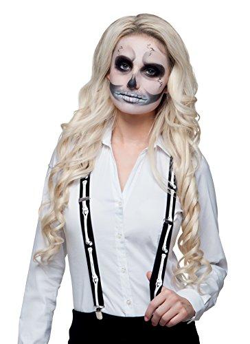 Boland 72071 - Hosenträger Skelett, Sonstige (Kostüm Halloween Hosenträger)