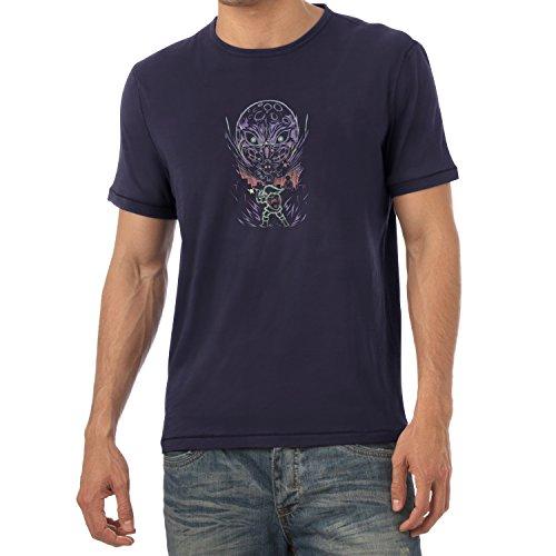 NERDO - Glowing Moon - Herren T-Shirt Navy