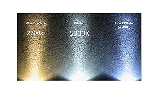 Best to buy®–Juego de 6GY6.35LED 6.5W Blanco Cálido, 2700K, intensidad regulable, 12V de 18V AC/DC Voltaje de cambio con 72x 2835smds (Epistar) ~ 50–65W 330° patillas