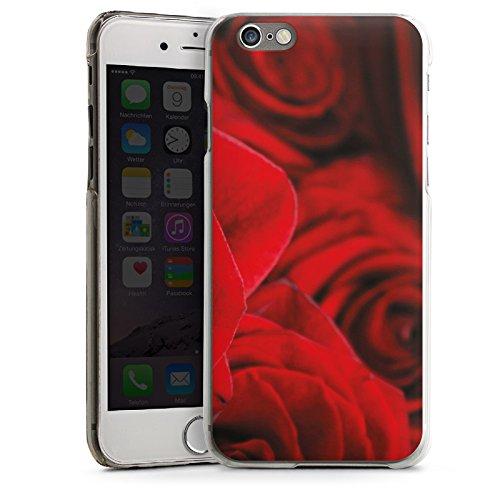 Apple iPhone 5s Housse Étui Protection Coque Rouge Roses Roses CasDur transparent
