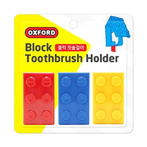 Zahnbürstenhalter Kinder, 3pcs Block Design Toothbrush Case Holders for Kids