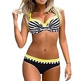 OverDose Damen Damen Overdose Dot Blumendruck Übergröße Bikinis Tankini Swim Kleid Badeanzug Beachwear gepolsterte Bademode damen Plus das Ausmaß Beachwear Badeanzüge Bikini Set