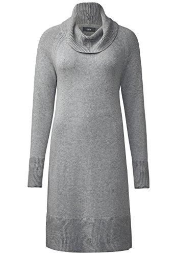 CECIL Damen Kleid mit Volumenkragen mineral grey melange''S