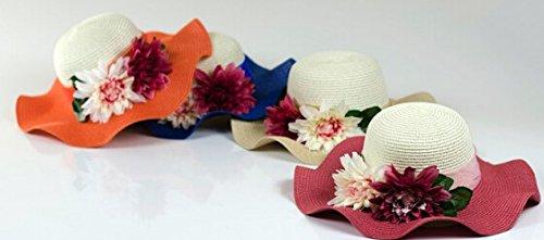SMO cap Fleurs de simulation du vent des forêts plage d'été chapeau / chapeau de soleil dame (603) voilet