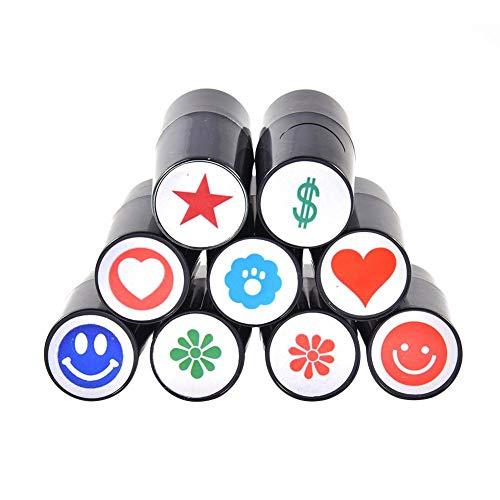 luckything Golfballstempel, Golfball Stempel Golfballmarkierer, Golfballmarker Kunststoff Silikon Stempelsiegel Für Marker Print - Zufällige Farbe
