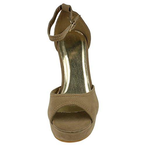 Spot On , Sandales pour femme Beige - Taupe