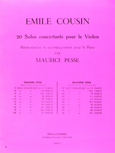 Cinquième Solo concertant ré Majeur pour Violon ...