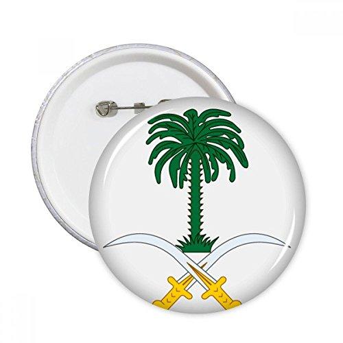 Arabia Saudita Asia Nacional emblema insignia clavijas redondas botón ropa decoración regalo 5pcs