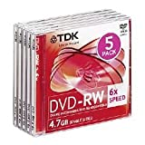 Pack di 5 DVD-RW 6 x 4.7 gb immagine