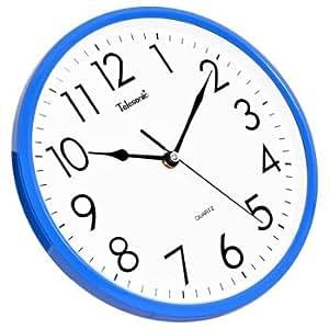Fyzs The Living Room Wall Clock Watch Fashion Clock Mute Mute Blue Wall Clocks